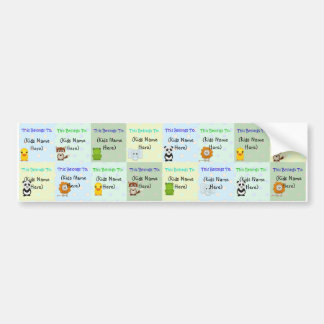 Personalized Kids Labels, Waterproof Baby Stickers Bumper Sticker