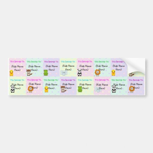 Personalized Kids Labels, Waterproof Baby Stickers Bumper Stickers