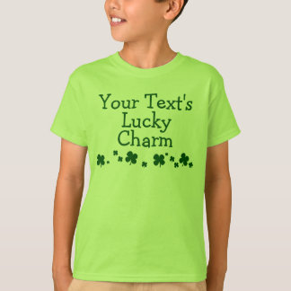Personalized Kid's Lucky Charm St. Patrick's Day T-Shirt