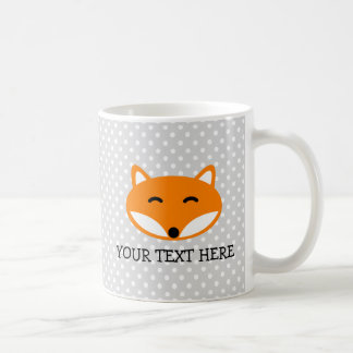 Personalized kids mug with cute red fox design