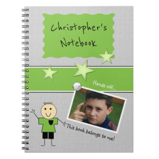 Personalized Kids school Photo Spiral Notebook