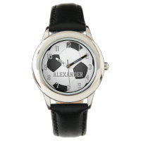 Personalized Kids Soccer Ball Watch