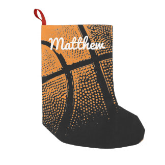 Personalized kids sports basketball Holiday design Small Christmas Stocking