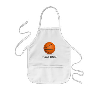 Personalized Kid's Sports Basketball Sunny Day Apron