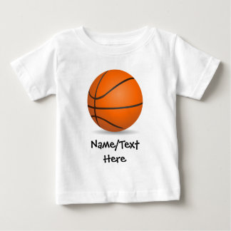 Personalized Kid's Sports Basketball Sunny Day Baby T-Shirt
