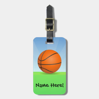 Personalized Kid's Sports Basketball Sunny Day Luggage Tag