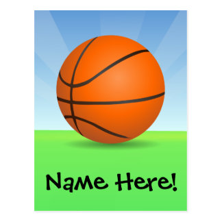 Personalized Kid's Sports Basketball Sunny Day Postcard