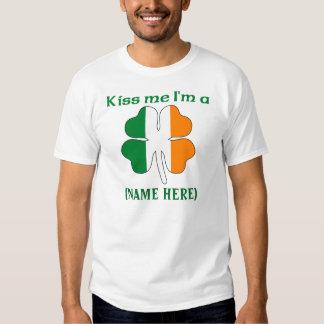 Personalized Kiss Me I'm Irish Tshirt
