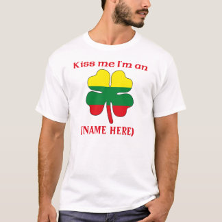 Personalized Kiss Me I'm Lithuanian Tshirt