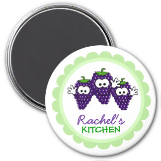 Personalized Kitchen Magnets 3 Inch Round Magnet