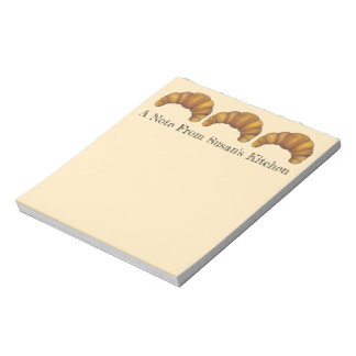 Personalized Kitchen Of Croissant Baker Pastry Notepad