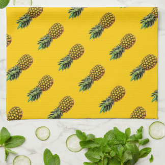 Personalized kitchen towel with pineapple fruit