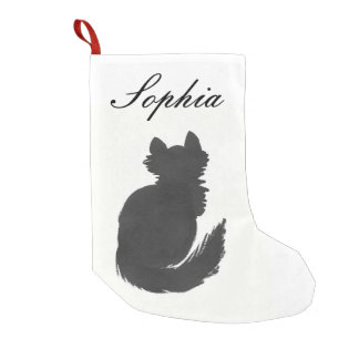 Personalized Kitten Small Christmas Stocking