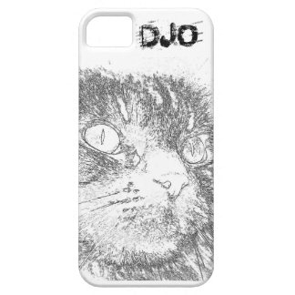 Personalized Kitty Face Outline Case For The iPhone 5