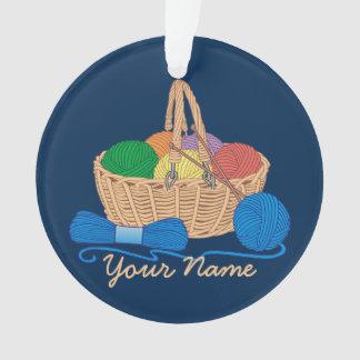 Personalized Knitting Colorful Yarn Basket