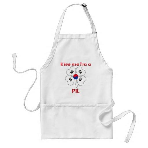 Personalized Korean Kiss Me I'm Pil Aprons