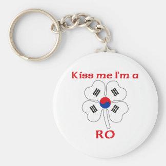 Personalized Korean Kiss Me I'm Ro Basic Round Button Key Ring
