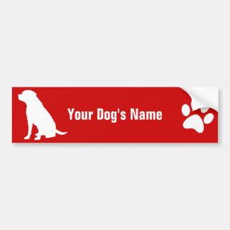 Personalized Labrador Retriever ラブラドール・レトリーバー Car Bumper Sticker