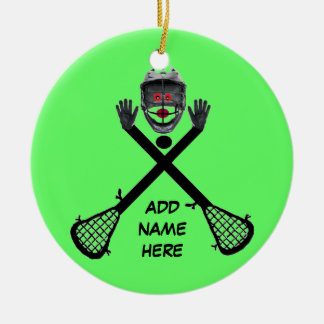 Personalized Lacrosse Star Christmas Ornament