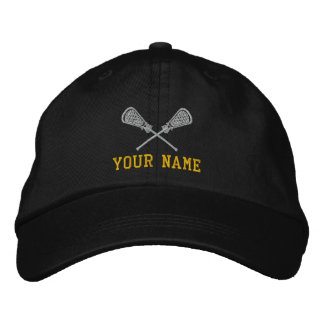 Personalized Lacrosse Your Name Embroidered Cap