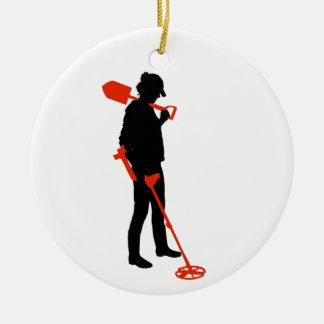 Personalized ladies metal detecting ornament