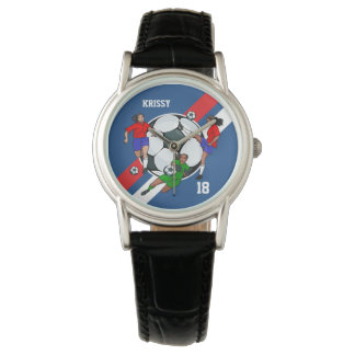 Personalized Ladies Soccer Designer Watch