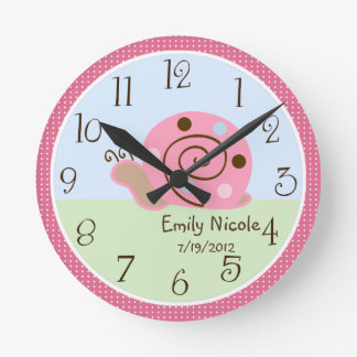 Personalized Ladybug Lullaby/Snail Nursery Clock