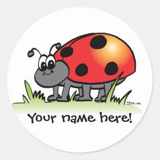Personalized Ladybug Sticker
