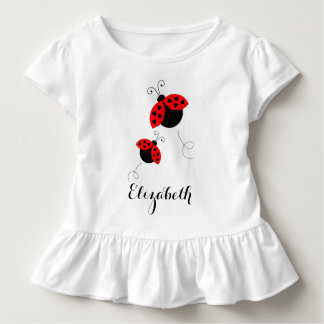 Personalized Ladybugs in Love Ruffled Tee
