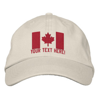 Personalized Large Canadian Flag Embroidery Baseball Cap