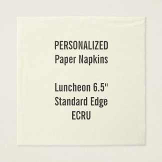 Personalized Large ECRU Luncheon Paper Napkins