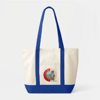 Personalized Large Tote Bag with Captain Cat