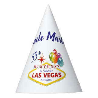 Personalized Las Vegas 55th Birthday Party Hat