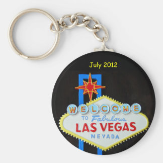 Personalized Las Vegas Basic Round Button Key Ring
