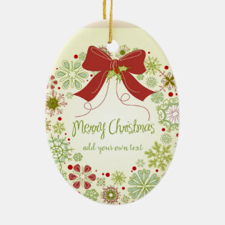 Personalized Las Vegas Christmas Ribbon Christmas Ornament