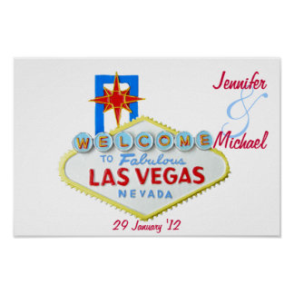 Personalized Las Vegas Commemorative Poster