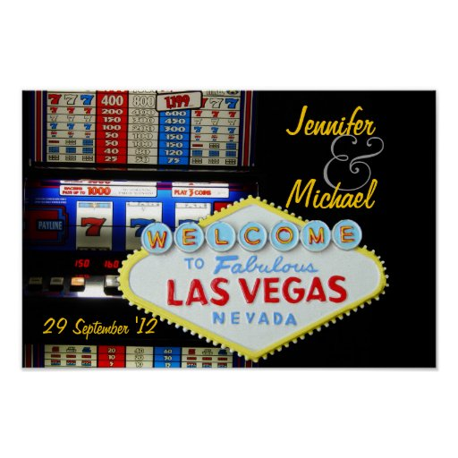 Personalized Las Vegas Party is Here Posters