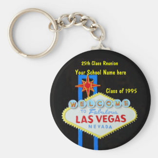 Personalized Las Vegas Sign Party Favor Basic Round Button Key Ring