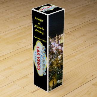 Personalized Las Vegas Wine Bottle Box