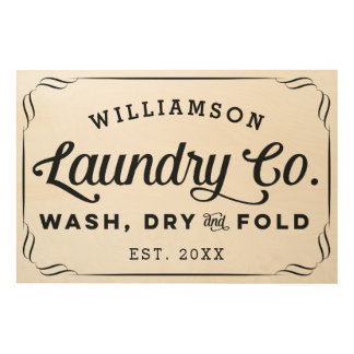 Personalized Laundry Co Wash Dry Fold Sign
