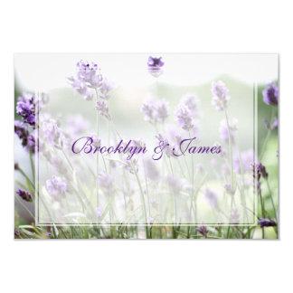 Personalized Lavender Bohemian Wedding RSVP Cards 9 Cm X 13 Cm Invitation Card