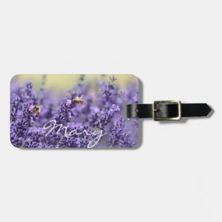 Personalized || Lavender field Bag Tag
