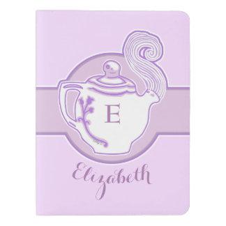Personalized Lavender Teapot Moleskine Notebook