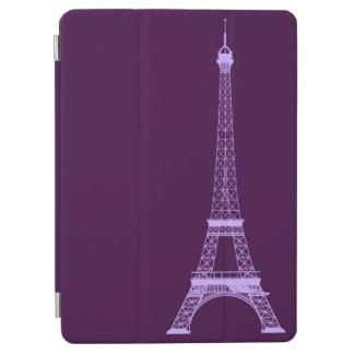 Personalized lavender Violet Eiffel Tower iPad Air Cover