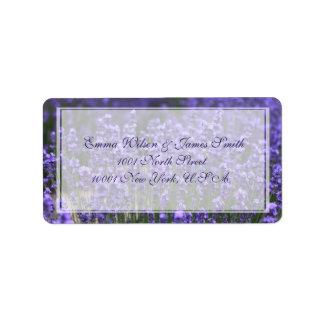 Personalized Lavender Wedding Address Labels