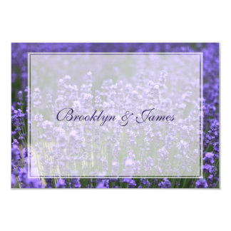 Personalized Lavender Wedding RSVP Cards 9 Cm X 13 Cm Invitation Card