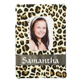 Personalized leopard print iPad mini case