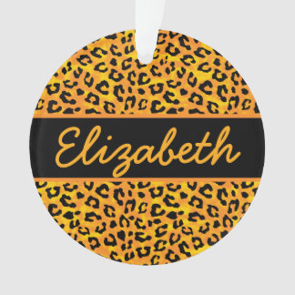 Personalized Leopard Print Ornament