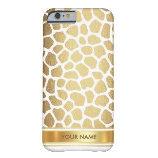 Personalized Leopard Skin White Gold Glam Case
