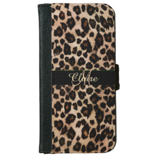 Personalized Leopard Wallet Case for iPhone 6 iPhone 6 Wallet Case